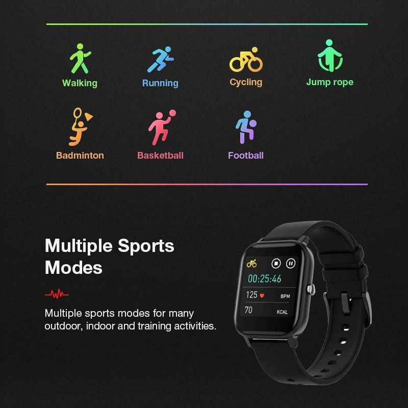 Multiple sports modes for many outdoor, indoor and training activities, the Smart Watch is ready to Make It Possible.