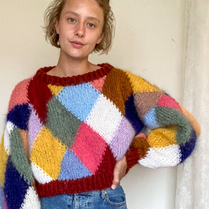 Harlekin sweater | strikkeopskrift