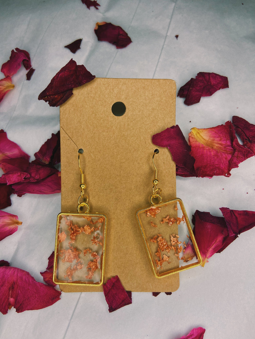 Bella earrings (square)