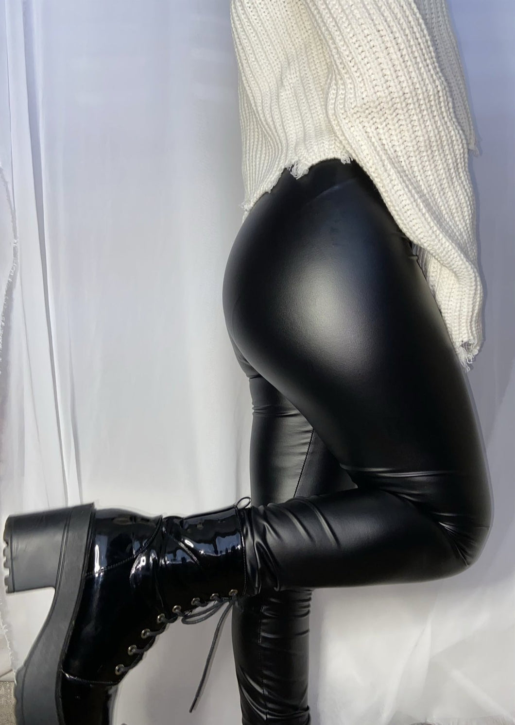 Kylie leather pants (Black)