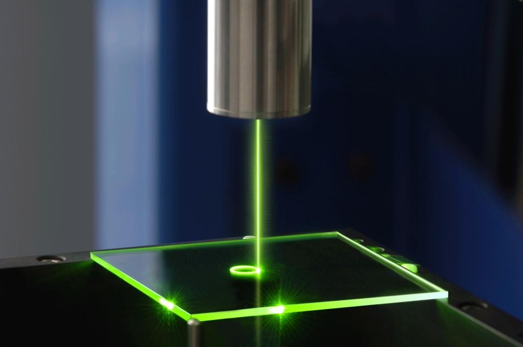 laser etching machine with a green laser
