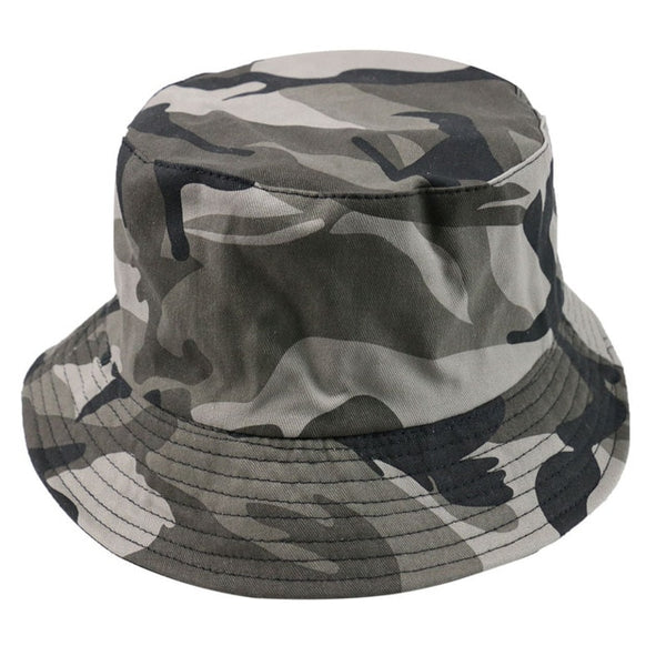 Green Camouflage Fishing Hats Bucket Caps