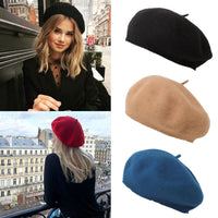 Winter Warm Soft Beret For Women Girls Beanie Hat Cap Flat Top Caps Hip Hop Knitted Cap Baggy Bonnet Accessories шапка женская