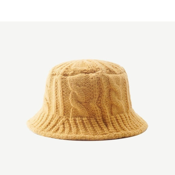 New Outdoor Knitted Wool Acrylic Bucket Hat