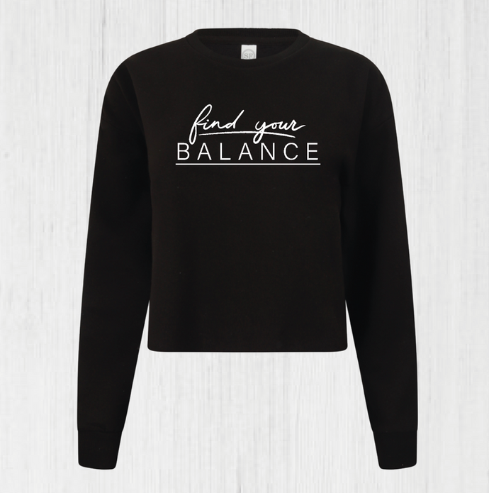 Find Your Balance Cropped Sweatshirt