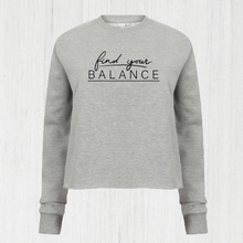Load image into Gallery viewer, Find Your Balance Cropped Sweatshirt