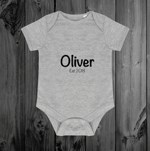 Load image into Gallery viewer, Personalised Name/Est Bodysuit