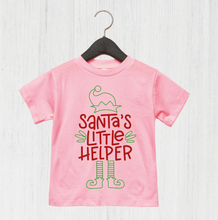 Load image into Gallery viewer, Santa's Little Helper T-Shirt (available 3 months-8 years)