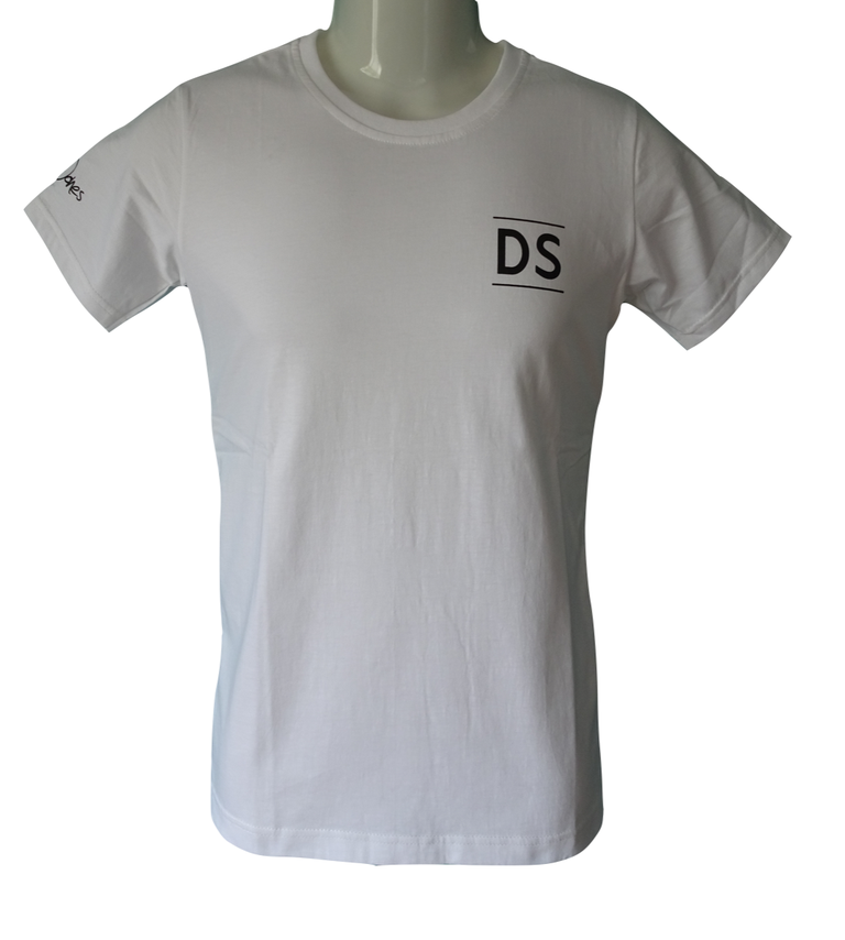 """DS"" White T-shirt"