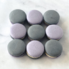 Liquorice & Violet Macarons in a Square