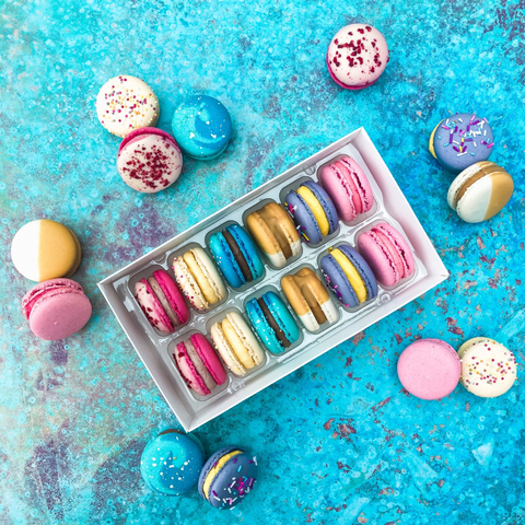 Collaboration Bar Box of Macarons - Inspired by The Chocolate Smiths and The March Hare Bakery Collaboration