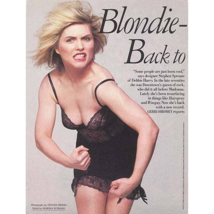 Deborah Harry in Vanity Fair