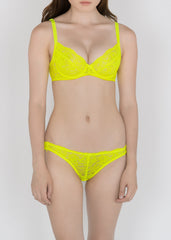 Classic Lace Bikini Brief in Fluorescent Colors