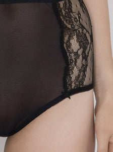 Surie Anna Italian Lace High-Waist Brief - DEBORAH MARQUIT