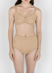 Sheer French Tulle High Waist Brief in Pastel Hues