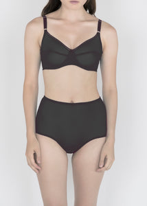 Sheer Essentials - French Tulle High Waist Brief - DEBORAH MARQUIT
