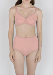 Sheer Essential Pastels - High Waist Brief - DEBORAH MARQUIT