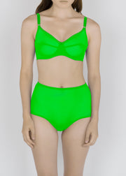 Sheer French Tulle High Waist Brief in Fluorescent Colors