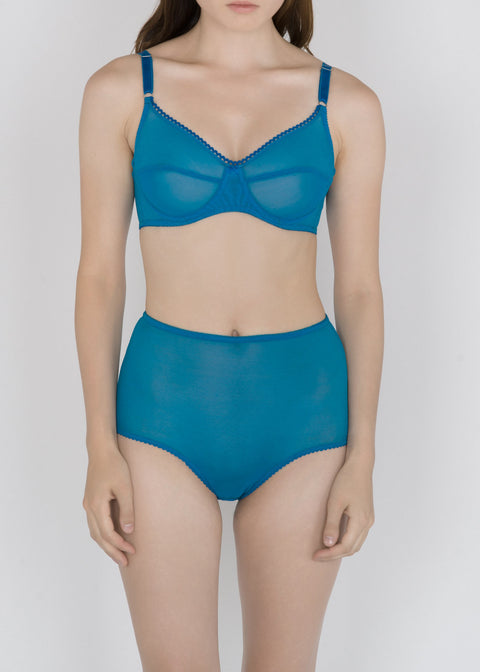 Sheer French Tulle High Waist Brief in Basic and Fluorescent Colors - DEBORAH MARQUIT