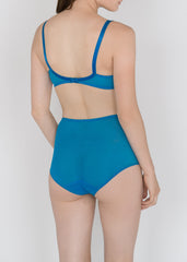 Sheer French Tulle High Waist Brief in Basic and Fluorescent Colors