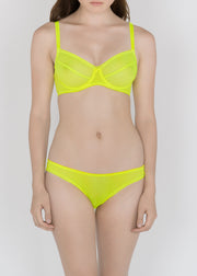 Sheer French Tulle Underwire bra in Basic and Fluorescent Colors - DEBORAH MARQUIT