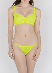 Sheer French Tulle G-string in Basic and Fluorescent Colors - DEBORAH MARQUIT
