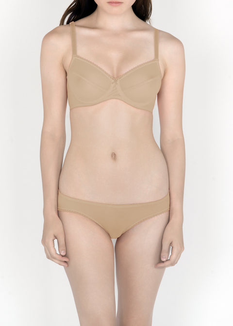 Sheer French Tulle Underwire Bra in Pastel Hues in sizes D-DD