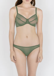 Sheer Essentials - French Tulle Underwire Bra - DEBORAH MARQUIT