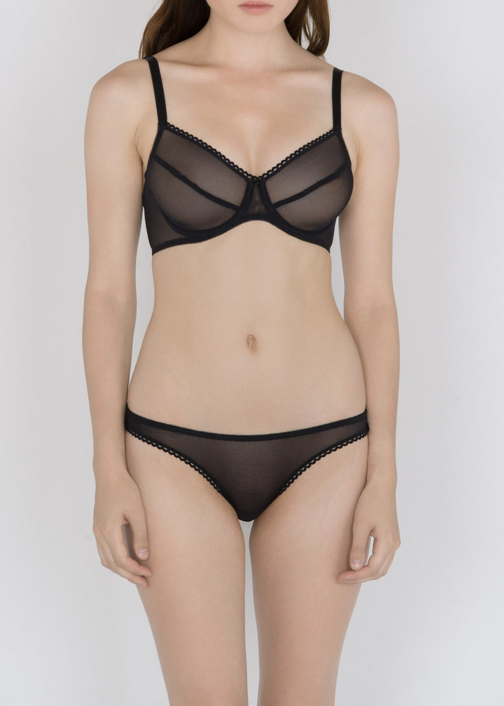 Sheer French Tulle Underwire bra in Basic and Fluorescent Colors