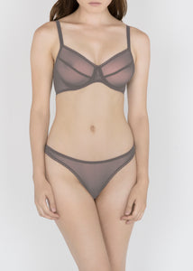 Sheer Essentials - French Tulle Thong - DEBORAH MARQUIT