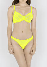 Load image into Gallery viewer, Sheer French Tulle Thong in Basic and Fluorescent Colors - DEBORAH MARQUIT