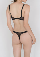 Sheer French Tulle Thong in Basic and Fluorescent Colors