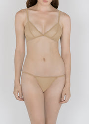 Sheer French Tulle Triangle Bra in Basic and Fluorescent Colors - DEBORAH MARQUIT