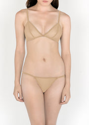 Sheer French Tulle Triangle Bra in Pastel Hues