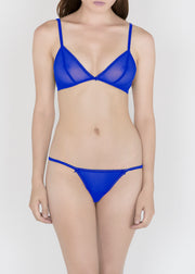 Sheer Essentials - French Tulle Triangle Bra - DEBORAH MARQUIT