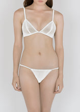 Load image into Gallery viewer, Sheer French Tulle Triangle Bra in Basic and Fluorescent Colors - DEBORAH MARQUIT