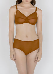 Sheer French Tulle 50s Bra in Neutral Tones Sizes D-DD