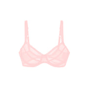 Sheer French Tulle Underwire Bra in Pastel Hues