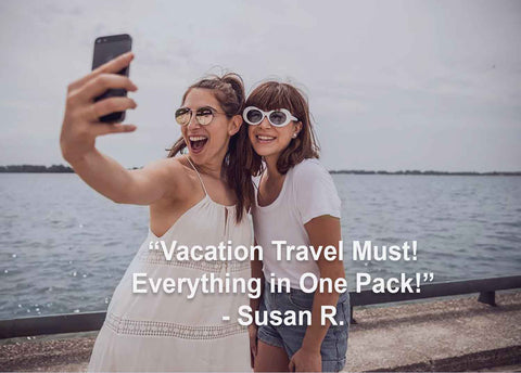 Susan says vitamin packs are a must-have travel items