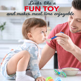 Load image into Gallery viewer, Silicone Baby Teether & Baby Spoons