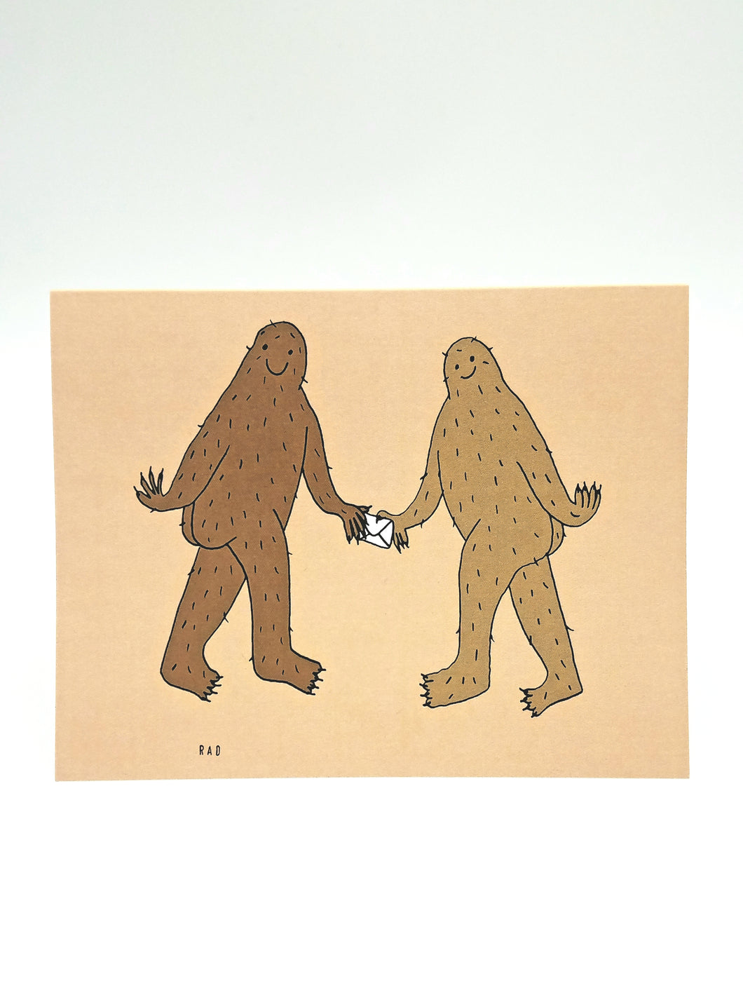 Bigfoot Note Pass Greeting Card