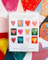 A Little Love Goes A Long Way - Boxed Set of 12 Heart Cards