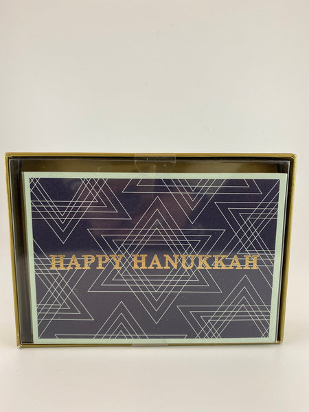 Happy Hanukah Star of David  Boxed