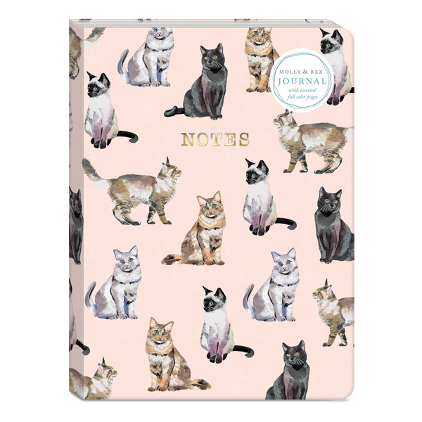 Cat Pattern 6 x 8.25 Softcover Journal