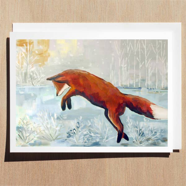 Pouncing Fox Card - Wildlife Collection Wl0005