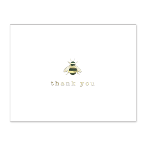 Boxed Elegant Notecards Bee Thank You