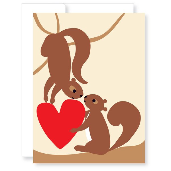 Val / Love- squirrels in love.
