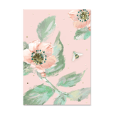 Pouch Notes Pink Floral Bee
