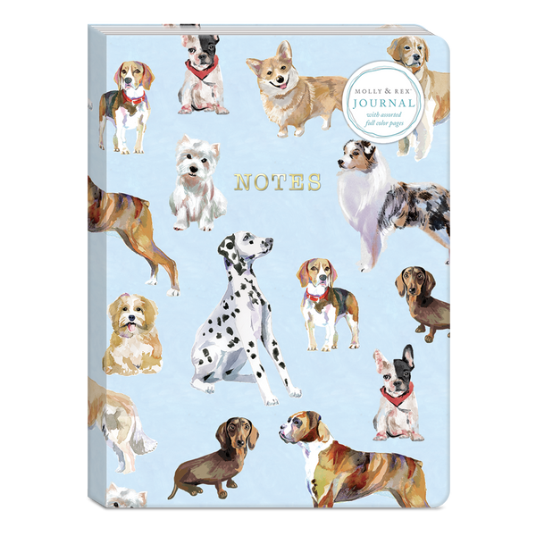 Dog Breed Pattern 6 x 8.25 Softcover Journal