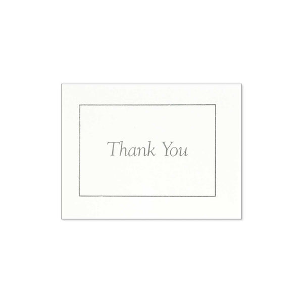 Thank You Notes (20Ct) - Silver On White